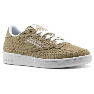 Club C 85 Metallic Mesh Beige / White CN1514