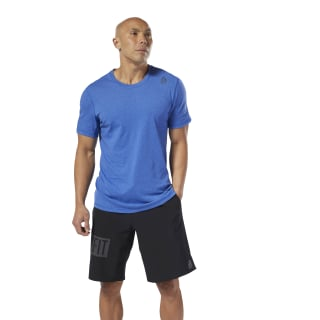 Reebok CrossFit Performance Blend Graphic Tee Crushed Cobalt Mel DU5111