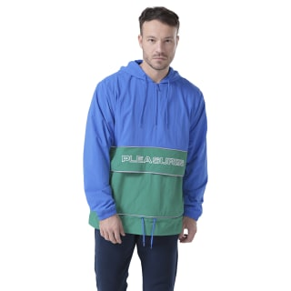 Chamarra Classic Leather V Uni Pleasures Anorak vital blue/pine green FH9299