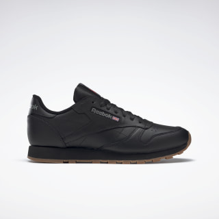 Кроссовки Reebok Classic Leather Black / Int-Black / Gum 49800
