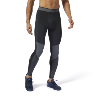Tight Training Jacquard Compression Black DP6556