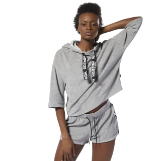 WOR Meet You There Terry Hoodie Medium Grey Heather DP6681