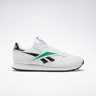 Classic Leather Vector Men's Shoes White / Black / Emerald EF8836