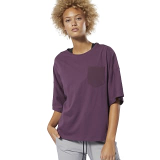 Training Supply Pocket Tee Infused Lilac DP5650