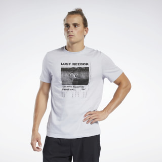 T-shirt à col rond Graphic Series Lost Reebok Sterling Grey FK6014
