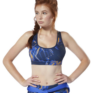 Running Essentials Hero Racer Padded Bra Crushed Cobalt/Solar Gold DP6601