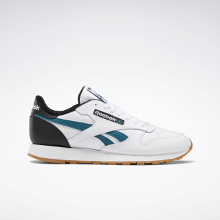 Classic Leather Shoes White / Black / Heritage Teal EF7832