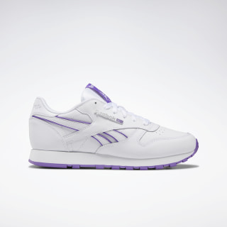 Classic Leather Shoes White / Grape Punch DV8757
