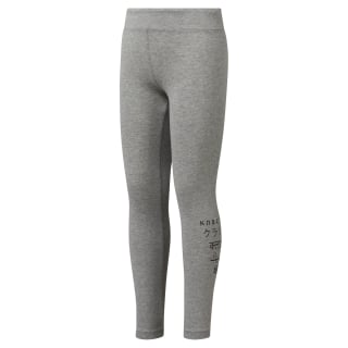 Girls Classics Leggings Medium Grey Heather DH3317
