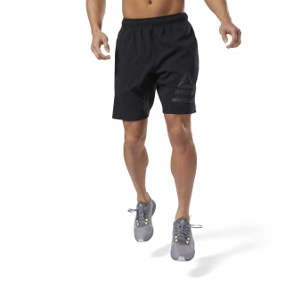 Workout Ready Graphic Woven Short Black CY3615