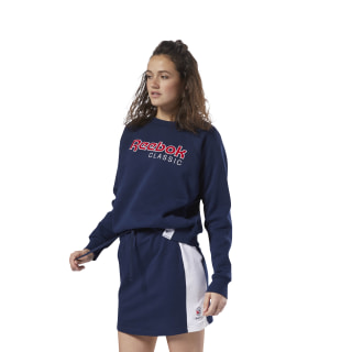 Bluza Classics Big Logo Fleece Crew Collegiate Navy DH1325