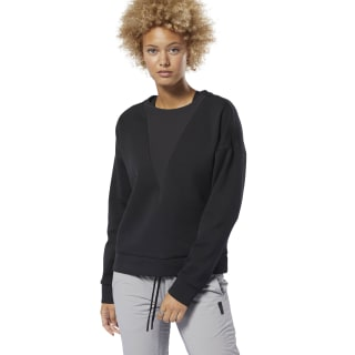 Training Supply Sweatshirt met Ronde Hals Black DU4042
