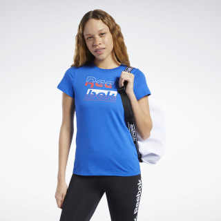Футболка TE Graphic Tee Reebok Humble Blue FK3603