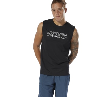 LES MILLS® Sleeveless T-shirt Black DV2699