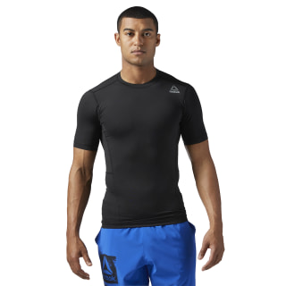 Workout Ready Compressieshirt met Korte Mouwen Black / Black BQ5724