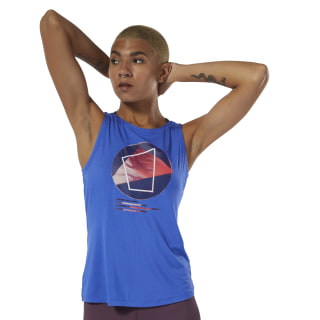Camiseta sin mangas Yoga Graphic Crushed Cobalt DU4485