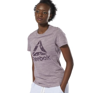 Training Essentials Gemarmerd Logo T-shirt Lilac Fog DU4925