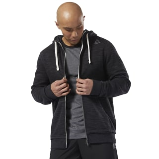 Sudadera Training Essentials Marble Full-Zip Black D94188