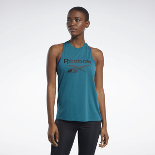 Musculosa Workout Ready Supremium Big Logo Heritage Teal FK6869