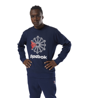 Classics French Terry Big Iconic Crewneck Collegiate Navy DM5157