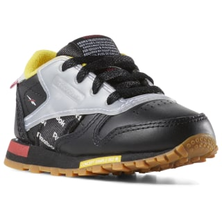 Classic Leather Altered - Toddler Black / RED / YELLOW / GREY DV5253