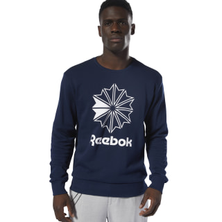 Classics French Terry Big Iconic Crewneck Collegiate Navy / White DT8121
