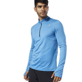 Run Essentials Quarter Zip Cyan EC2533