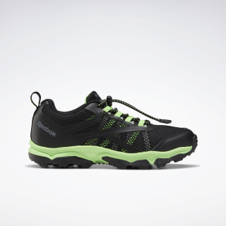 Reebok Rugged Runner Shoes - Preschool Black / Solar Green / Cold Grey EF6580