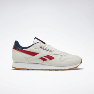 Кроссовки Reebok Classic Leather CHALK/COLL NAVY/RED/WHT DV8735
