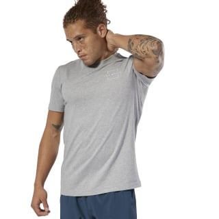 LES MILLS® Tee Medium Grey Heather / Medium Grey Heather DV2707
