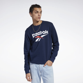 Sweat Classics Vector à col rond Collegiate Navy FJ3278