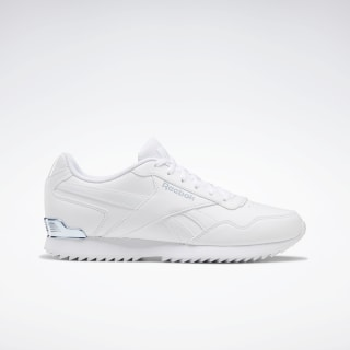 Reebok Royal Glide Ripple Shoes White / Frostbite Met / White EG9396