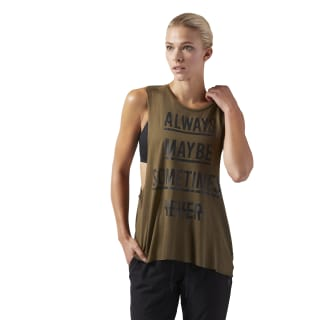 Training Supply Muscle Tank Army Green CD3857