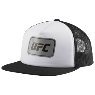 UFC Ultimate Fan Flat Brim Mesh Snapback Cap White/Black BW5653