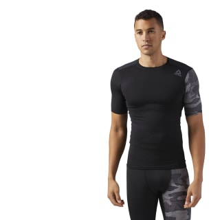 ACTIVCHILL Graphic Compression T-Shirt Black CF2977