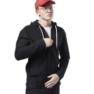 Training Essentials Twill Hoodie Black EC0793