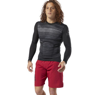 ACTIVCHILL Long Sleeve Compression Tee Black CY4888