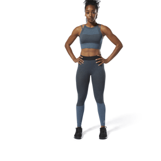 Reebok CrossFit® MyoKnit Tights Blue Hills / Black DU5092