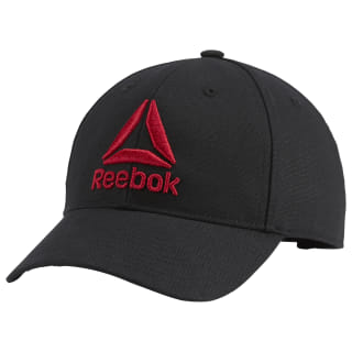Active Enhanced Baseball Cap Black / Excellent Red DW9106