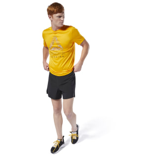 Camiseta Run Essentials Graphic Semi Solar Gold DU4306