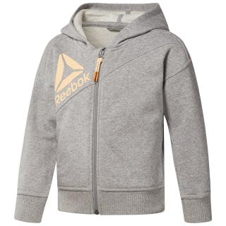 Girl's Full Zip Hoodie Medium Grey Heather CF4244