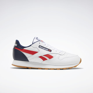 Classic Leather Shoes White / Collegiate Navy / Radiant Red EF7827