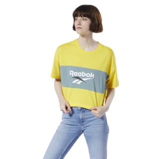 Classics Vector Crop T-Shirt Go Yellow DX3814