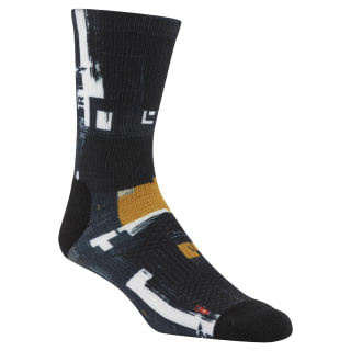 Reebok CrossFit Men Printed Crew Sock Black CZ9926