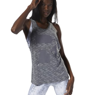 Camiseta sin mangas Running Burnout Trend DARK GREY HEATHER D78728