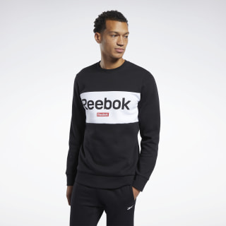 Training Essentials Linear Logo Sweatshirt Black / Rebel Red FR8129