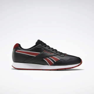 Reebok Royal Glide Shoes Black / Pure Grey 4 / Red Ember EF7694