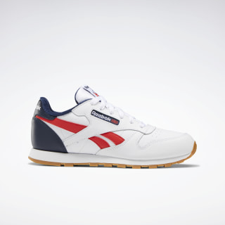 Classic Leather Shoes White / Collegiate Navy / Radiant Red EG5751