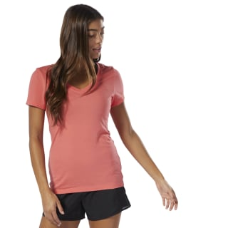 T-shirt avec col en V Bright Rose DU4632