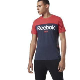 Camiseta Training Essentials Linear Logo Rebel Red FI1952